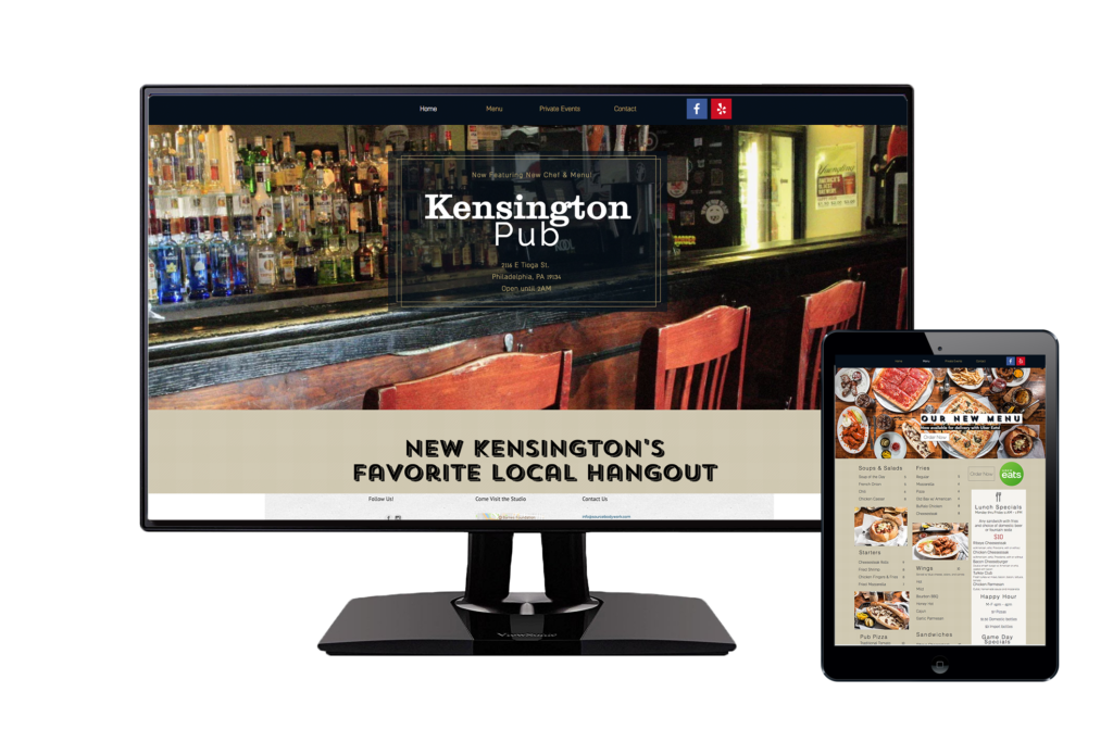 Kensington Pub website