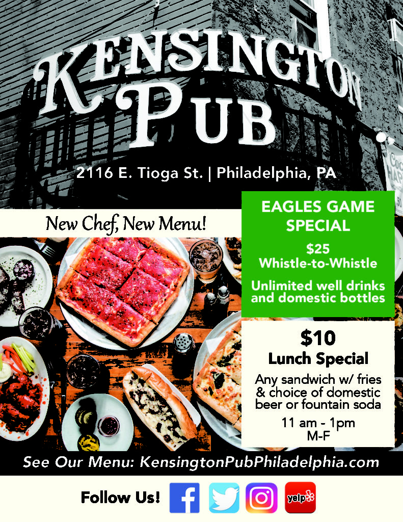 Kensington Pub Flyer